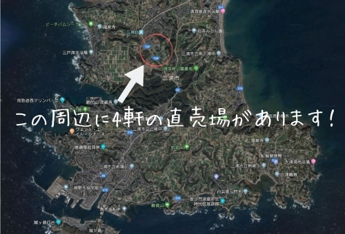 三崎口~三戸の野菜直売所MAP