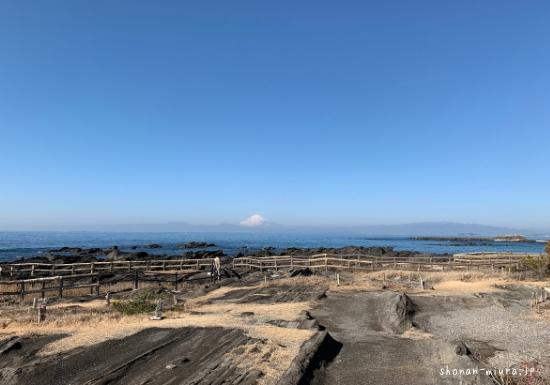 佐島天神島から見た富士山