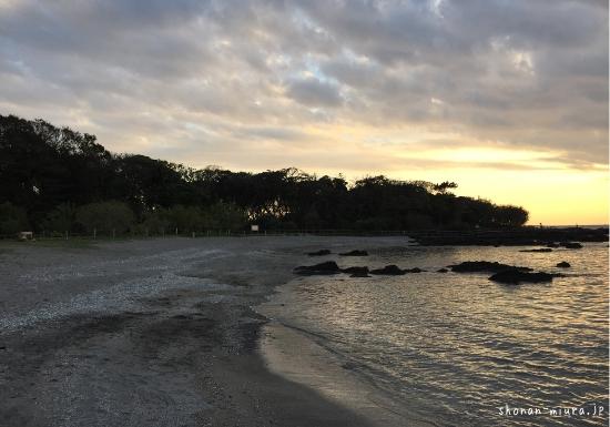 天神島の夕景