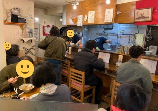 横須賀【煮干平八】の店内の様子