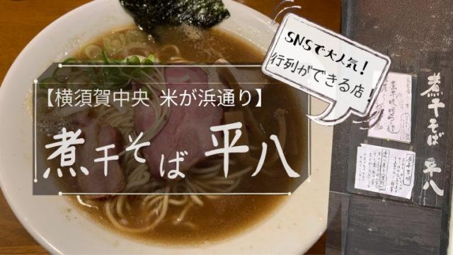 横須賀【煮干平八】感想レビュー