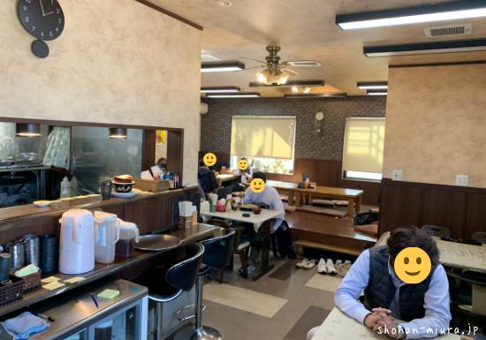まるい食堂の店内の様子