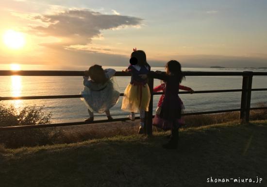 葉山公園で遊ぶ子供たち