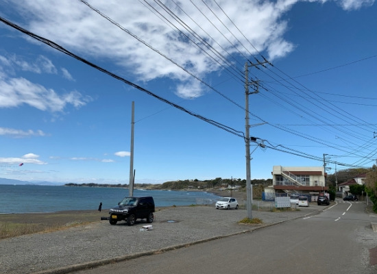三戸浜南側駐車場