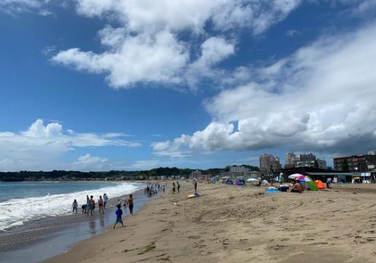 夏の三浦海岸海水浴場