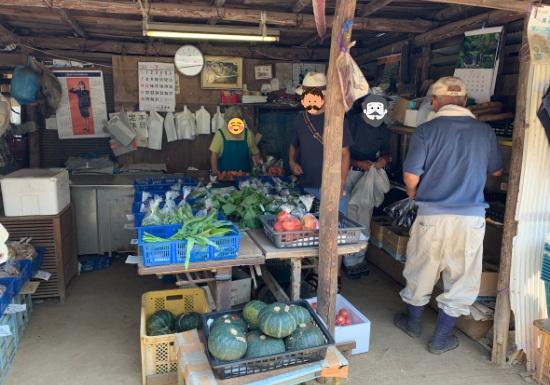 子安の里通り野菜直売所