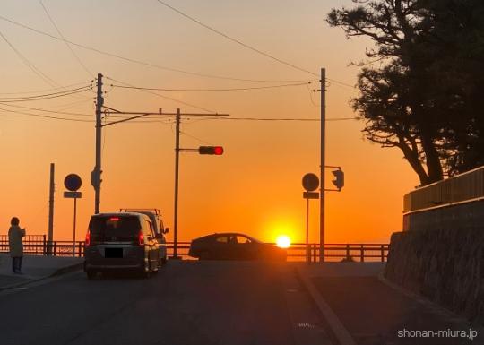 逗子海岸の夕焼け