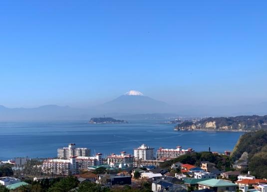 逗子市披露山公園からの富士山
