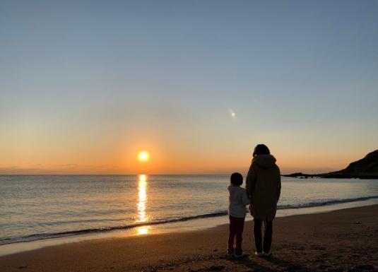 和田長浜から見る夕景