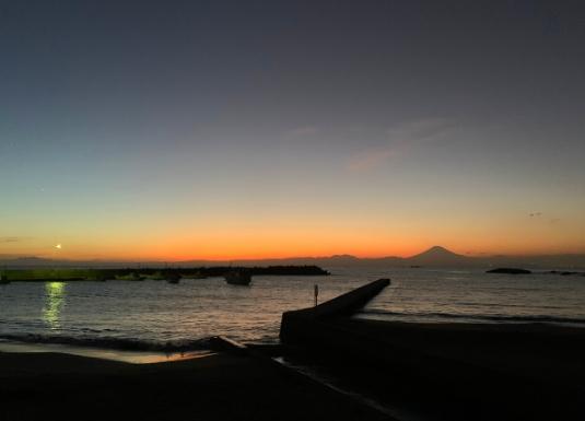 久留和海岸からの夕景