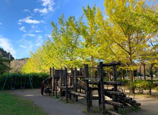 葉山南郷公園アスレチックとブランコ