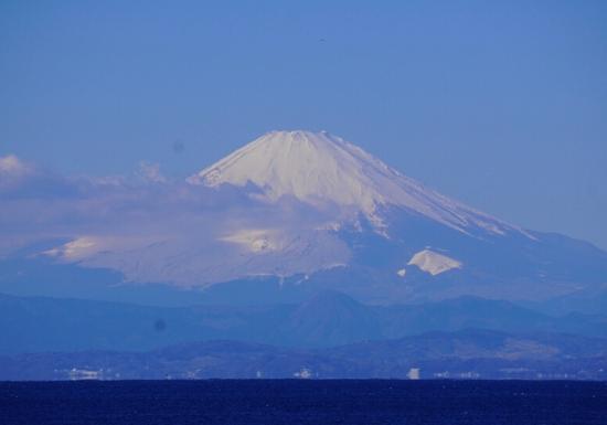 葉山公園から見た富士山