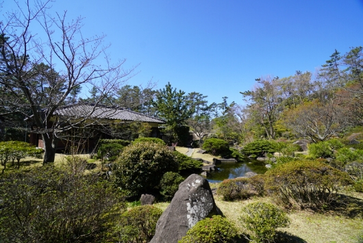 しおさい公園の日本庭園