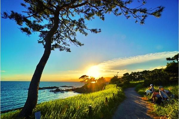 立石海岸の夕日