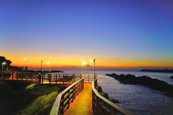 城ケ島の夕日