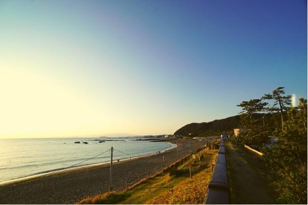 大浜海岸の夕日